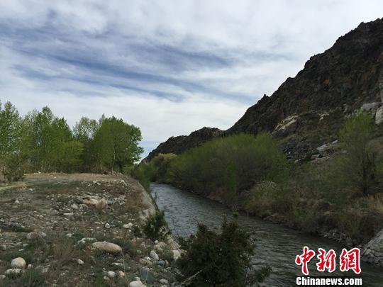阿克大渠蜿蜒流淌。樊晓丽 摄