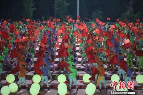 9月29日晚,国庆70周年联欢活动训练场。蒋启明 摄