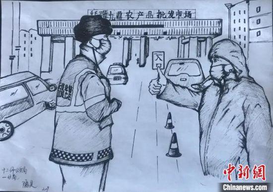 """让爱说""""画"""":新疆兵团民警手绘漫画记录战""""役""""生活"""