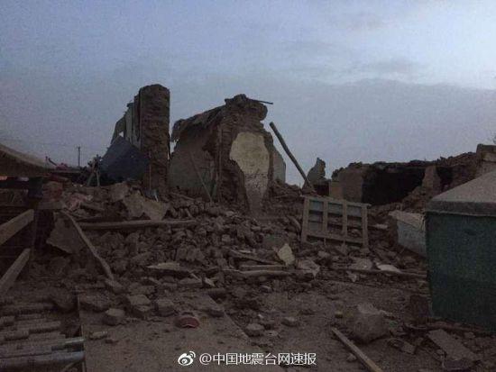 新疆塔县发生5.5级地震