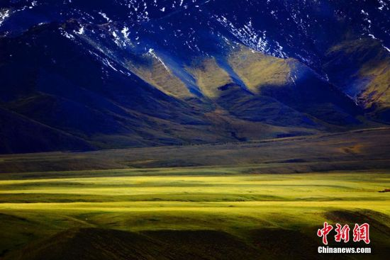 新疆托克逊县黑山草原夏日风光旖旎