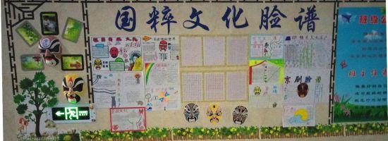 """北屯高级中学举办""""中华优秀传统文化进校园""""文化墙评比活动"""