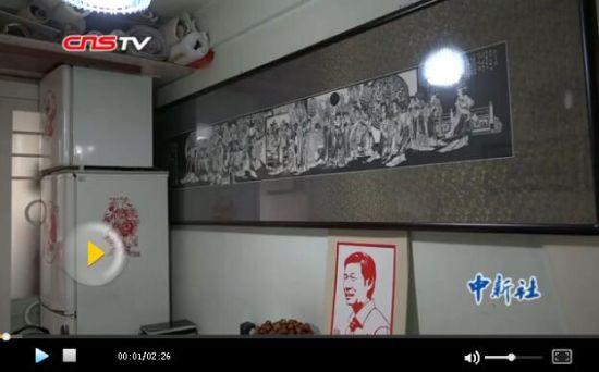 乌鲁木齐一七旬老人用高科技剪纸 作品精美震撼