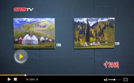 福建艺术家联手新疆艺术家画天山 市民赞艺术水平高