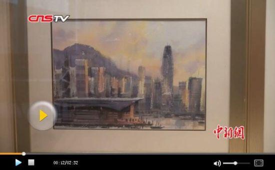 """水彩画家沈平""""两地画展""""述说香港及新疆故事"""