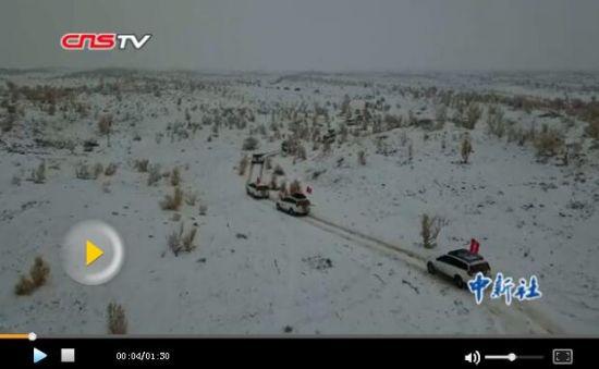 新疆车友冬季11小时穿越东道海子迎新年