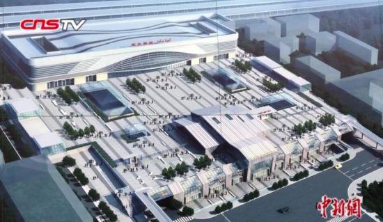 """""""格库铁路""""库尔勒新站启用 为中国首个隔震技术站房"""
