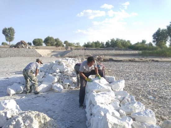 兵地携手做好塔里木河下游河道安全防汛度汛工作
