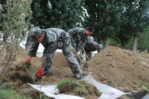 第十师一八六团加强北沙窝哨所配套建设绿化面积已近5万平方米