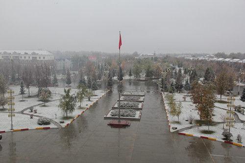 中哈边境第十师一八五团迎来降雪天气比往年提前近20天