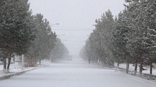 """中哈边境一线一八六团遭遇强降雪群众出行变""""雪人"""""""